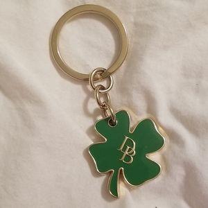 🍀Dooney&Bourke 4 leaf clover key ring🍀